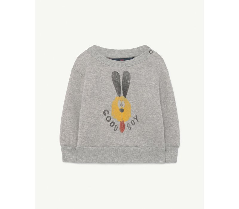 Bear Grey Heather Baby Sweatshirt Grey Dog