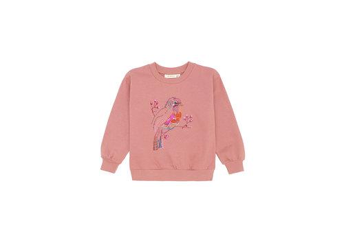 Soft Gallery Elesse Sweatshirt Rose Dawn, Birdy emb