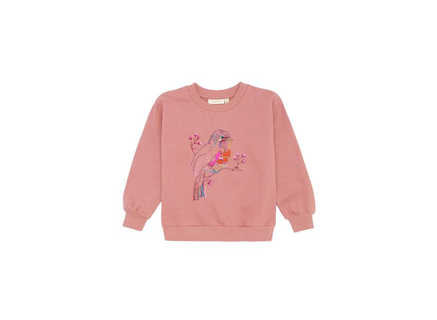 Elesse Sweatshirt Rose Dawn, Birdy emb