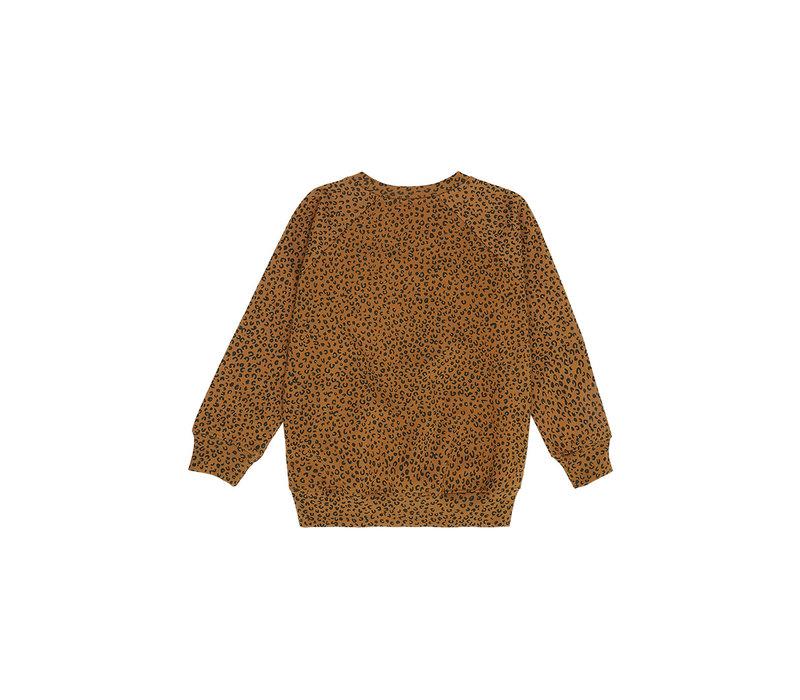 Chaz Sweatshirt Golden Brown, AOP Leospot M