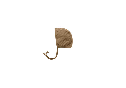 Quincy Mae Pointelle Baby Bonnet Walnut