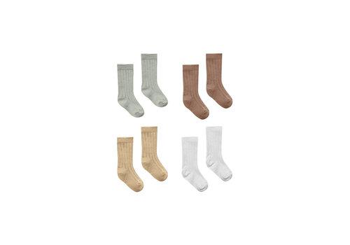 Quincy Mae Baby Socks - 4 Pack Sg-Ca-Hn-Vr