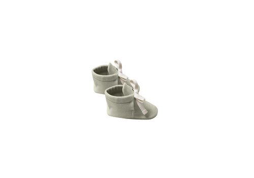 Quincy Mae Baby Booties Sage