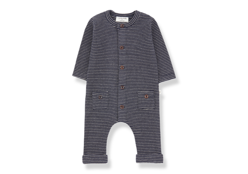 1 + More in the Family Hudson jumpsuit Blue Notte/Beige