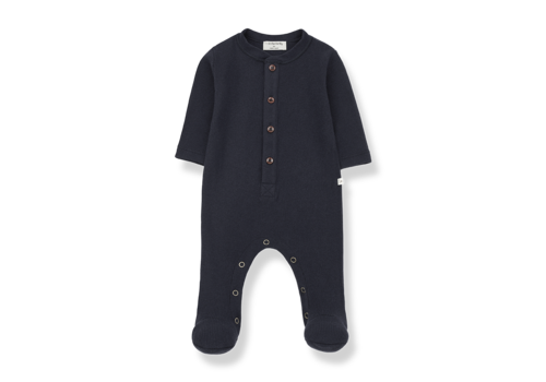 1 + More in the Family Monar jumpsuit w/feet Blue Notte