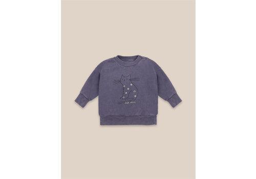 BOBO CHOSES Cat Sweatshirt Grape Compote