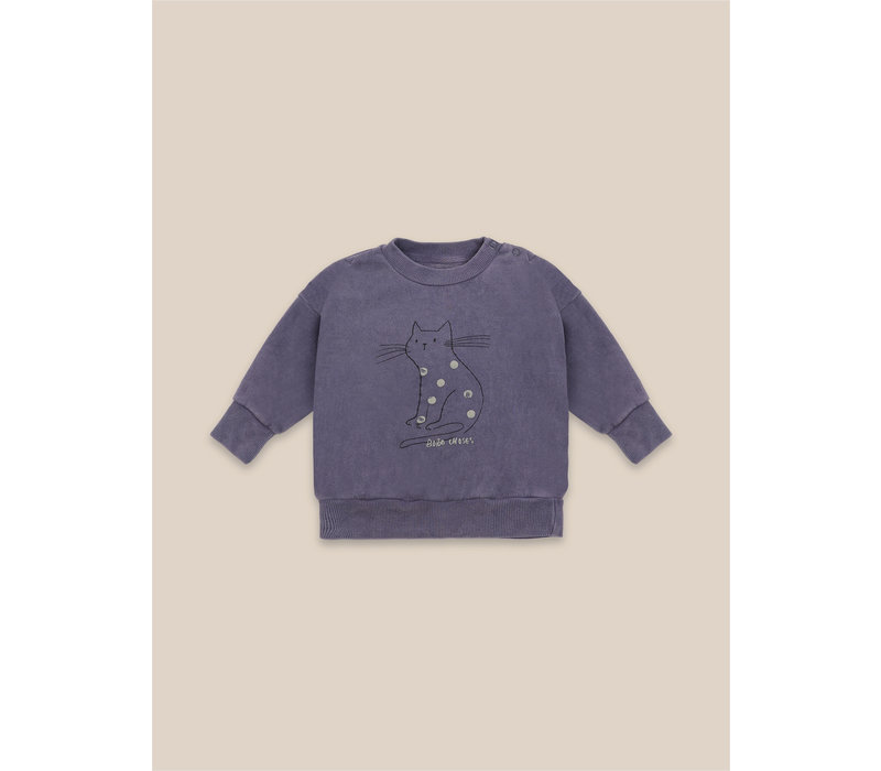 Cat Sweatshirt Grape Compote