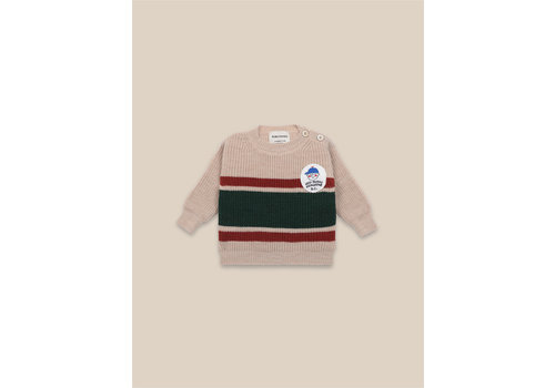 BOBO CHOSES Boy Patch Jumper Brown Rice