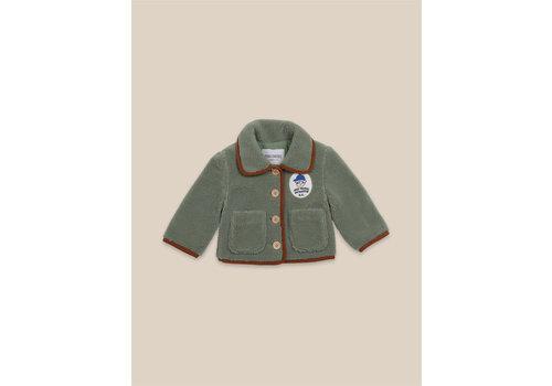 BOBO CHOSES Boy Patch Sheepskin Jacket Greener Pastures