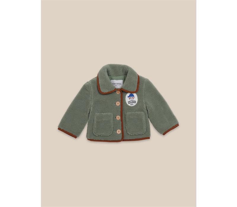 Boy Patch Sheepskin Jacket Greener Pastures
