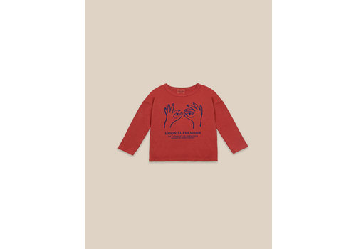 BOBO CHOSES Moon Supervisor Long Sleeve T-shirt Ketchup