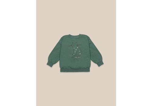 BOBO CHOSES Cat Sweatshirt Greener Pastures