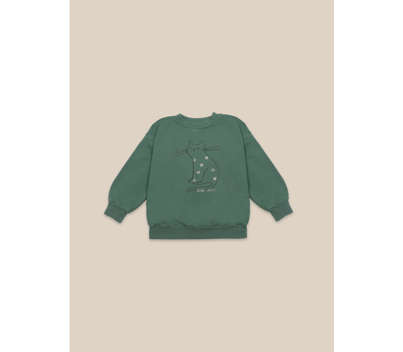 Cat Sweatshirt Greener Pastures