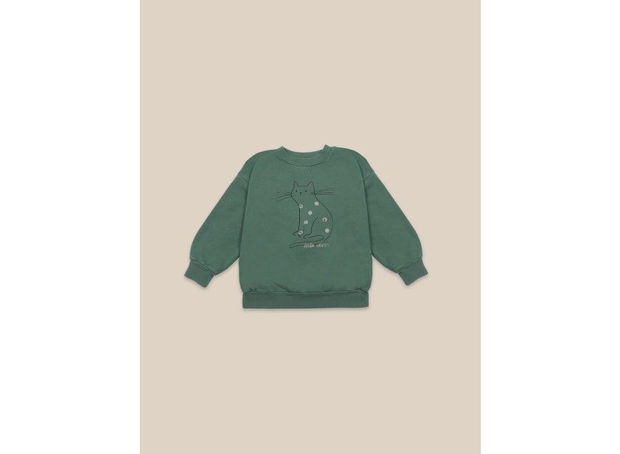 Cat Sweatshirt Greener Pastures