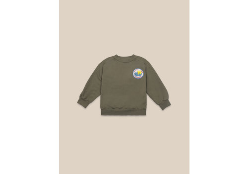 BOBO CHOSES Lucky Star Patch Sweatshirt Olive Branch