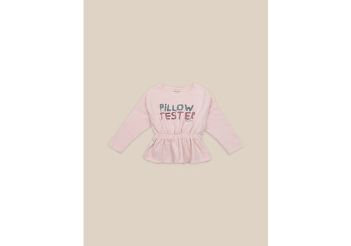 BOBO CHOSES Pillow Tester Girl Sweatshirt Cream Tan