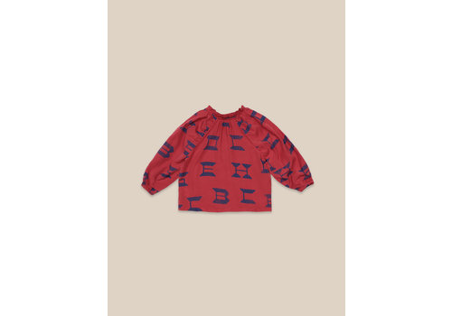 BOBO CHOSES Bobo Choses All Over Blouse Red