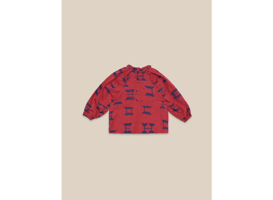 Bobo Choses All Over Blouse Red