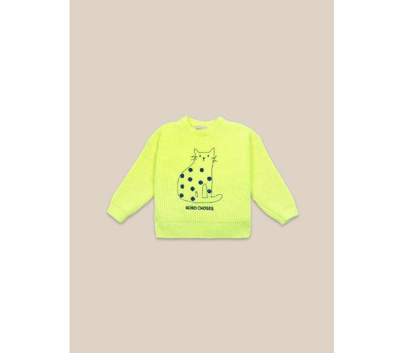 Cat Jumper Electric Yellow