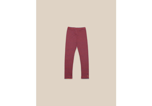 BOBO CHOSES Striped Leggings Ketchup