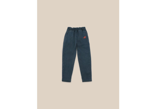 BOBO CHOSES Bird Embroidery Woven pants Atlantic Deep