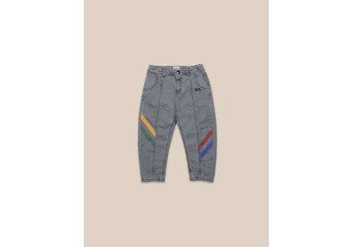 BOBO CHOSES Multicolor Denim Trousers Black