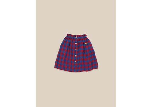 BOBO CHOSES Tartan Woven Skirt Check