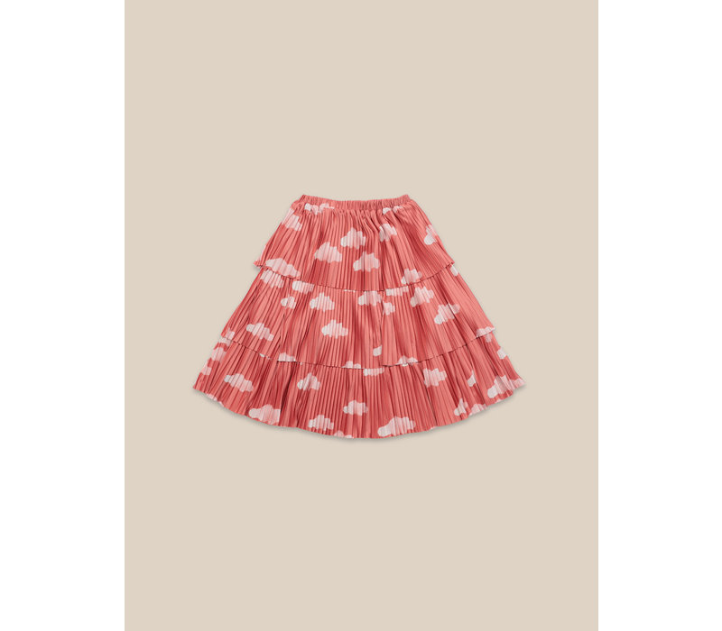 Clouds All Over Woven Skirt Ketchup