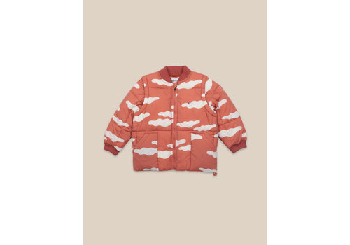 BOBO CHOSES Clouds All Over Padded Jacket Ketchup