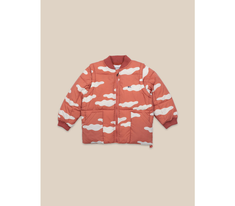 Clouds All Over Padded Jacket Ketchup