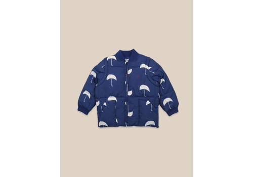 BOBO CHOSES Umbrella All Over Padded Jacket Forever Blue