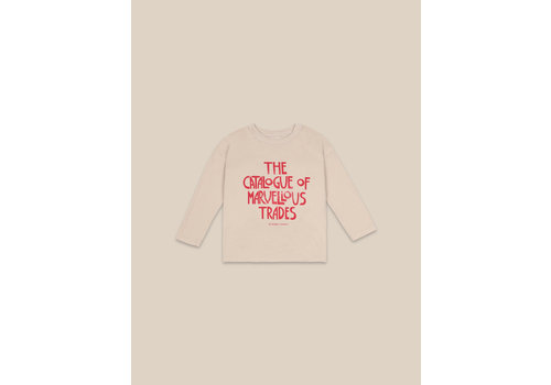 BOBO CHOSES Catalogue Of Marvelous Trades Long Sleeve T-shirt Brown Rice