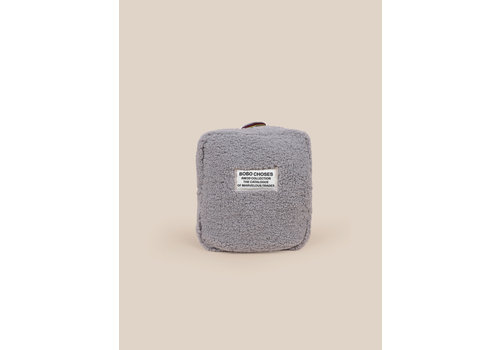 BOBO CHOSES Sheepskin Schoolbag Light Grey