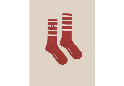 BOBO CHOSES Striped Long Socks Caramel Cafe