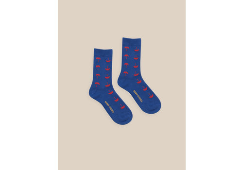 BOBO CHOSES Umbrella Short Socks Blue Indigo