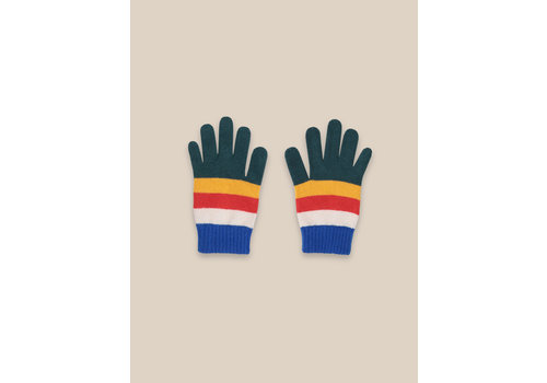 BOBO CHOSES Multicolor Stripes Gloves Electric blue
