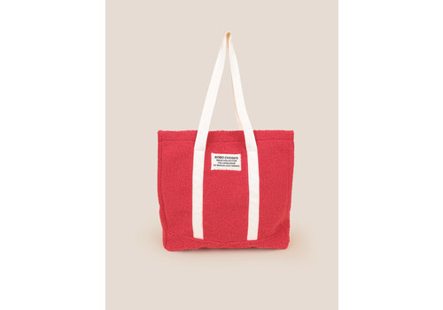 BOBO CHOSES Large Sheepskin Hand Bag Red
