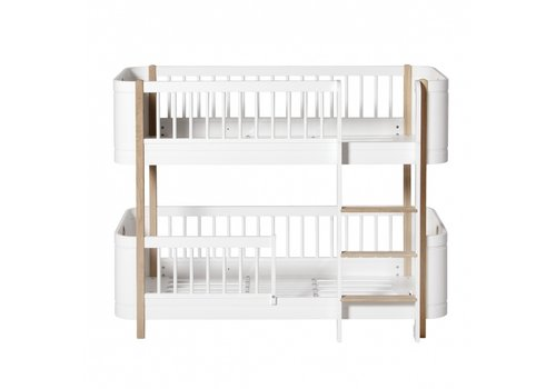 Oliver Furniture WOOD MINI+ LOW BUNK BED, WHITE/OAK