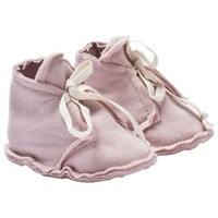 Baby Raw Edged Booties Vintage Pink