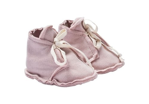 Gray Label Baby Raw Edged Booties Vintage Pink