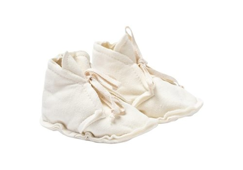 Gray Label Baby Raw Edged Booties Cream