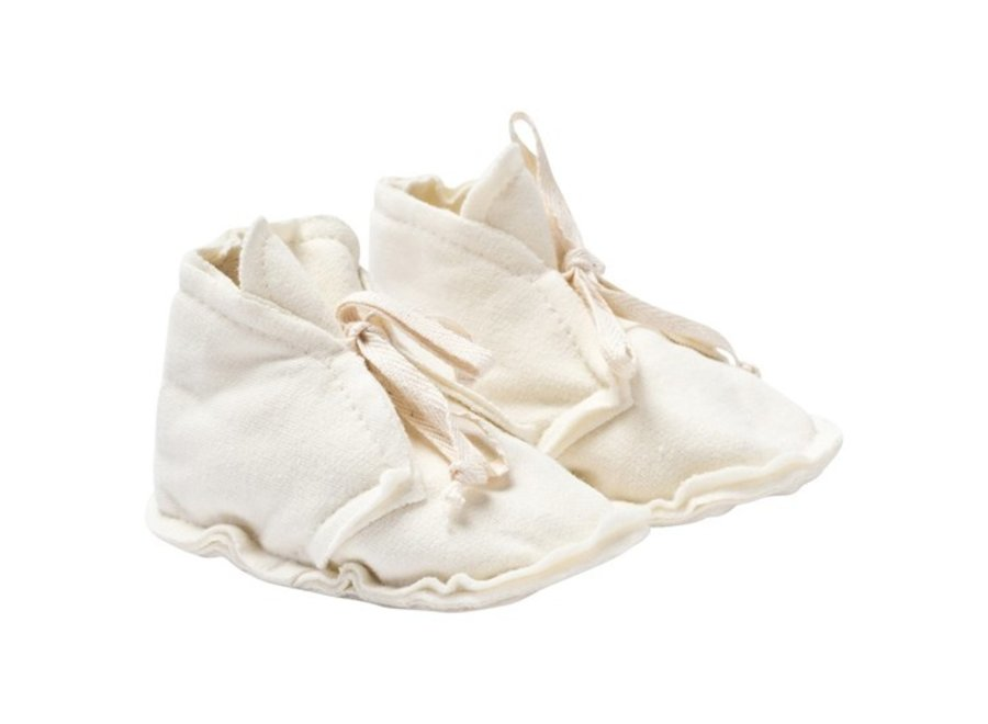 Baby Raw Edged Booties Cream