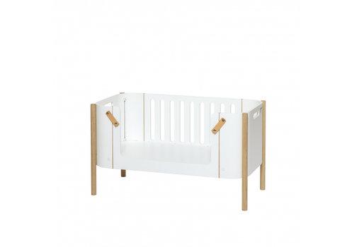 Oliver Furniture WOOD BENCH, WHITE/OAK
