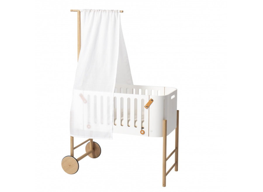 BED CANOPY FOR WOOD CO-SLEEPER, WHITE