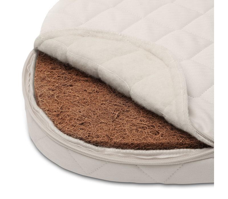 New KUMI Crib Mesh / Black&White With Organic Coco Mattress