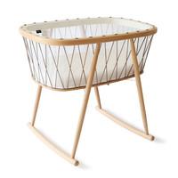 New KUMI Crib Mesh / Hazelnut With Organic Coco Mattress
