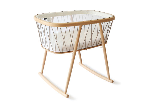 Charlie Crane New KUMI Crib Mesh / Hazelnut With Organic Coco Mattress