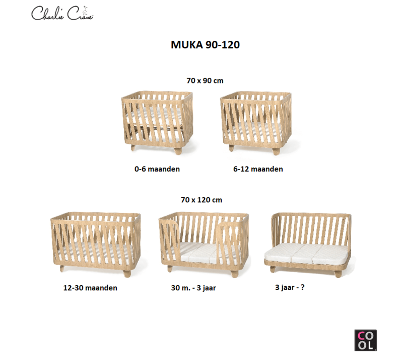 140 cm for MUKA Evolutive Bed