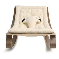 New Baby Rocker LEVO with Organic White cushion in Walnut or Beech
