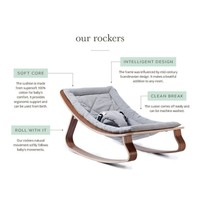 LEVO Baby Rocker with Hibiscus Cushion  in Walnut or Beech